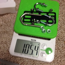 power meter calibration weight - small hardware on kitchen scale
